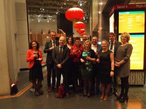 De Nederlandse delegatie bij de Onderwijstop in Nieuw-Zeeland.