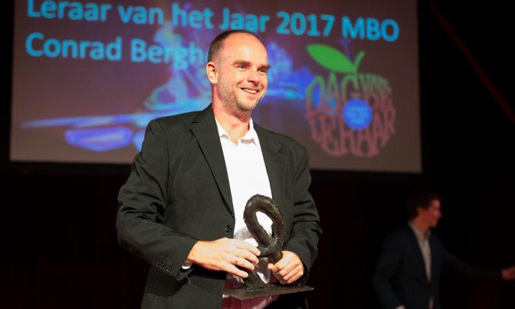 Conrad Berghoef mbo-docent van het jaar 2017